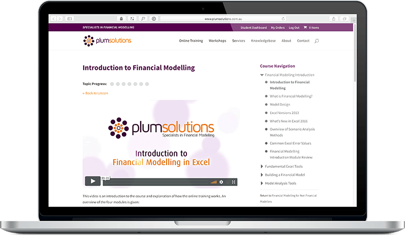 Online Training in Financial Modelling - Plum Solutions