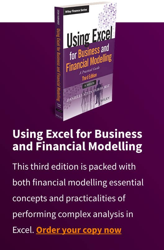 Using Excell for Business and Financial Modelling Out Now Promo