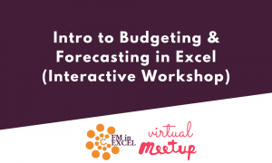 Intro to Budgeting & Forecasting in Excel (Interactive Workshop)